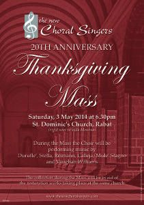 TNCS 20th anniversary Thanksgiving Mass - May 2014